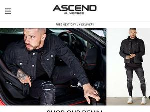 Ascendclothing.co.uk voucher and cashback in January 2021