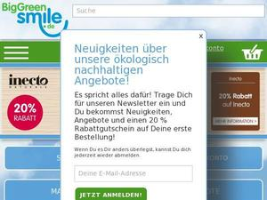Biggreensmile.de Gutscheine & Cashback im April 2021