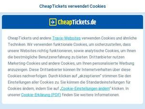 Cheaptickets.de Gutscheine & Cashback im April 2021