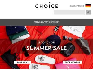 Choicestore.com voucher and cashback in April 2021