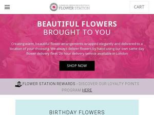 Flowerstation.co.uk voucher and cashback in January 2021