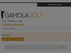 Gamolagolf.co.uk voucher and cashback in April 2021