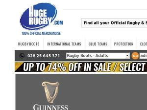 Hugerugby.com voucher and cashback in January 2021