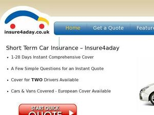 Insure4aday.co.uk voucher and cashback in January 2021
