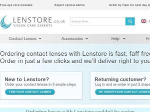 Lenstore.co.uk voucher and cashback in May 2021
