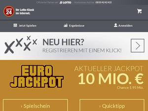 Lotto24.de Gutscheine & Cashback im April 2021