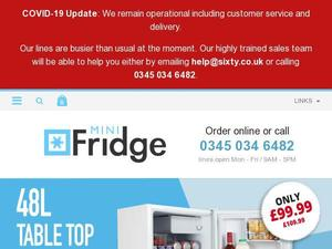 Minifridge.co.uk voucher and cashback in March 2021