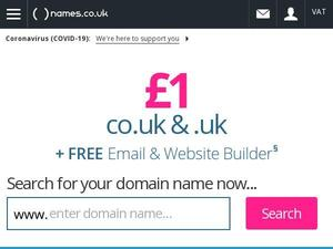 Names.co.uk voucher and cashback in May 2021