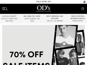 Odsdesignerclothing.com voucher and cashback in January 2021