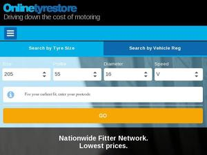 Onlinetyrestore.com voucher and cashback in February 2021