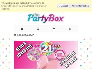 Partyboxuk.com voucher and cashback in May 2021