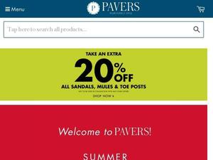 Pavers.co.uk voucher and cashback in January 2021