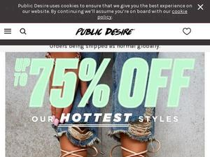 Publicdesire.com voucher and cashback in April 2021