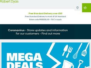Robertdyas.co.uk voucher and cashback in February 2021