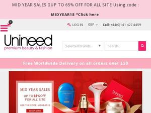 Unineed.com voucher and cashback in April 2021