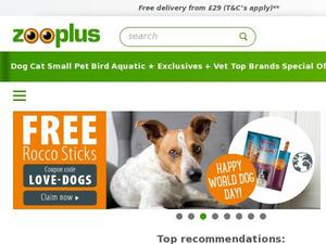 Zooplus.co.uk voucher and cashback in February 2021
