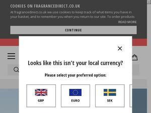 Fragrancedirect.co.uk voucher and cashback in July 2020