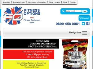 Fitnessoptions.co.uk voucher and cashback in August 2020