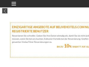 Belivehotels.com voucher and cashback in October 2020