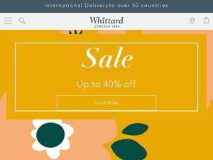 Whittard.co.uk voucher and cashback in October 2020