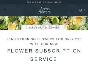 Arenaflowers.com voucher and cashback in November 2020