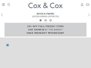 Coxandcox.co.uk voucher and cashback in July 2020