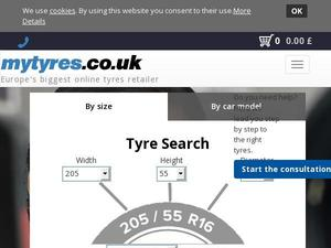 Mytyres.co.uk Voucher & Cashback