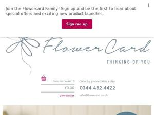 Flowercard.co.uk Voucher & Cashback