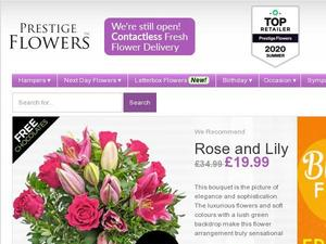 Prestigeflowers.co.uk Voucher & Cashback