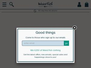 Weirdfish.co.uk voucher and cashback in July 2020