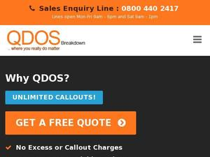 Qdosbreakdown.co.uk Voucher & Cashback