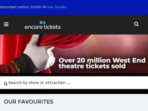Encoretickets.co.uk voucher and cashback in October 2020