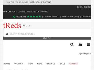 Treds.co.uk voucher and cashback in August 2020