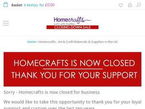 Homecrafts.co.uk Voucher & Cashback
