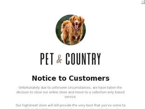 Petandcountrystore.com voucher and cashback in August 2020