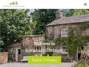 Gorgeouscottages.com voucher and cashback in October 2020