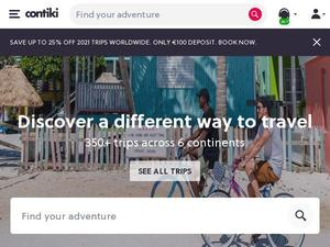 Contiki.com voucher and cashback in August 2020