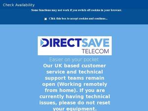 Directsavetelecom.co.uk Voucher & Cashback