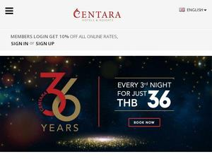 Centarahotelsresorts.com voucher and cashback in October 2020