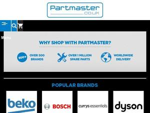 Partmaster.co.uk voucher and cashback in August 2020