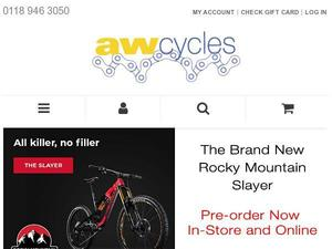 Awcycles.co.uk voucher and cashback in October 2020