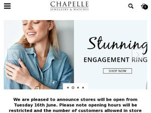 Chapelle.co.uk voucher and cashback in August 2020