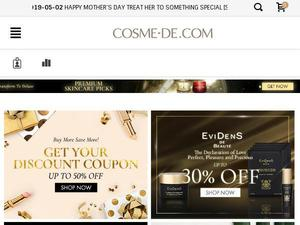 Cosme-de.com voucher and cashback in October 2020