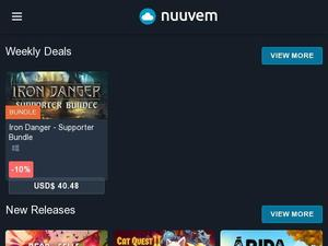 Nuuvem.com voucher and cashback in October 2020