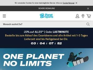 Planet-sports.de Gutschein & Cashback