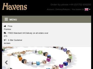 Havens.co.uk voucher and cashback in October 2020