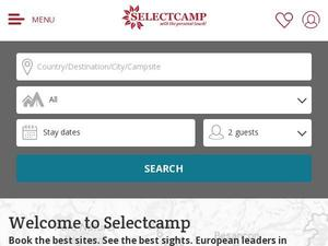 Selectcamp.com voucher and cashback in October 2020